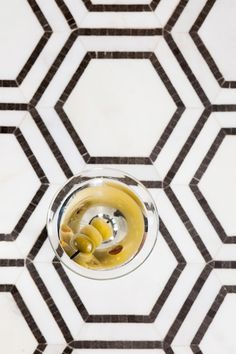 Hex Appeal- 5 Inch Oriental White-Basalt Grey Hexagon Mosaics