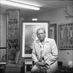 "Blackbear Bosin (June 5, 1921–August 9, 1980) was a Comanche-Kiowa sculptor and painter, also known as Tsate Kongia.  He lived and created his art in Wichita, Kansas.  He is most well known for his sculpture ""The Keeper of the Plains,"" a 44-foot sculpture which graces the confluence of the Arkansas and Little Arkansas rivers.  Pinner's note:  I had the pleasure of meeting Mr. Bosin when I worked as a proofreader at Acme Lithographers, Inc. (Wiki)"