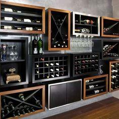 Kessick Contemporary Wine Racking showroom display at Innovative Wine Cellars in AZ.