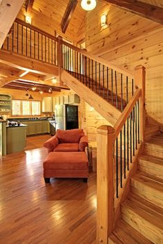 stairs wooden in home - Google Search