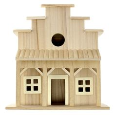 Find the Saloon Wooden Birdhouse by ArtMinds® at Michaels Cool Bird Houses, Wooden Bird Houses, Bird Houses Painted, Western Saloon, Westerns, Bird House Feeder, Bird Feeders, Birdhouse Designs, Wood Bird
