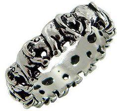 #stardrop on Artfire      #ring                     #Beautiful #Elephant #Band #Sterling #Silver #Ring  Beautiful Elephant Band Sterling Silver Ring                                  http://www.seapai.com/product.aspx?PID=1234305