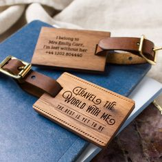 Are you interested in our valentines day gift for him or her? With our wooden luggage tag you need look no further.