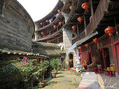 Chine, Fujian - Les lanternes traditionnelles dans les Tulous.