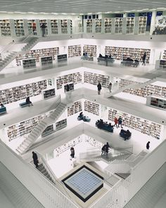 """thingsdavidlikes: """" I was in a lot of nice buildings today but the Stuttgart Stadtbibliothek takes the biscuit! #library #stadtbibliothek #stuttgart #architecture #architectureporn..."""
