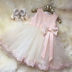Short Flower Girl Dresses, Pink Short Mini Flower Girl Dresses, Mini Short Flower Girl Dresses, 2017 Flower Girl Dresses Bowknot Long Appliques Satin and Tulle Cute Flower Girl Dresses, Little Dresses, Little Girl Dresses, Flower Girls, Cute Dresses, Girls Dresses, Baby Dresses, Fashion Kids, Dress Anak