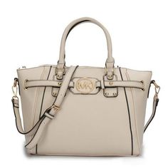 Perfect Michael Kors Pebbled Leather Large Ivory Satchels, Perfect You