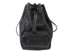 Vintage Black Backpack Coach design Genuine by KMalinkaVintage