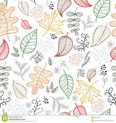 autumn patterns background white - Cerca amb Google