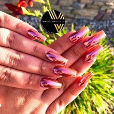 Magnificent Metallic Coffin Nail Designs ❤ 35+ Magnificent Coffin Nails Designs You Must Try ❤ See more ideas on our blog!! #naildesignsjournal #nails #nailart #naildesigns #nailshapes #coffinnails #balerinanails #coffinnailshapes Coffin Shape Nails, Ballerina Nails, Nude Color, Cool Nail Art, Nail Tips, Long Nails, Gel Nails, Fashion Beauty, Nail Designs