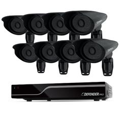 Defender 21113 PRO Sentinel 8CH Smart Security DVR with 8 Hi-Res Outdoor Security Cameras by Defender. $679.99. From the Manufacturer                 The natural choice for installers and contractors and those who demand ultimate peace of mind, Defender® PRO can protect you or your client's investment and keep your building safe and crime-free. The patented sleek, modern appearance of Defender PRO cameras is complemented by its durable, vandal-resistant design while the ...