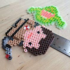 Ghostbusters Perler Bead Character Magnets Egon Ray por HarmonArt2