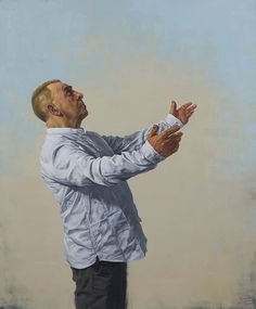 """Amazing paintings, drawings, portraits from Glasgow based painter Graeme Wilcox at http://www.graemewilcoxartist.com/ """"Diplomat"""", oil on canvas, 101 x 76cm, © Graeme Wilcox"""