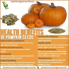 Naturopaths have made use of pumpkin seeds to treat prostate enlargement