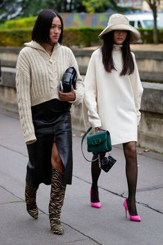 The Best Street Style at Paris Fashion Week 2019 - Daily Fashion Street Looks, Look Street Style, Nyfw Street Style, Street Style Women, Winter Street Styles, Tokyo Street Style, Street Chic, Classy Street Style, Street Style Trends