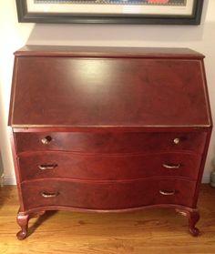 1920s Vintage English/Edwardian Solid Wood Leaf Secretary Desk by UpcyDaisy, $695.00