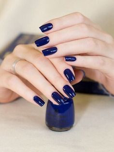 Nail Designs is a wonderful creativity to make your nails look stunning. It is excellent for Girls and women's who love growing pretty nail designs! Nail Polish Designs, Nail Art Designs, Nails Design, Navy Blue Nails, Navy Acrylic Nails, Colorful Nail Designs, Super Nails, Glitter Nail Art, Simple Nails