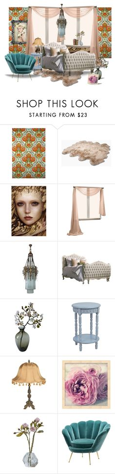 """Vintage bed"" by housebybianca ❤ liked on Polyvore featuring interior, interiors, interior design, home, home decor, interior decorating, UGG Australia, Eichholtz and vintage"
