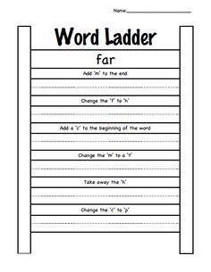 word ladder - Short a.