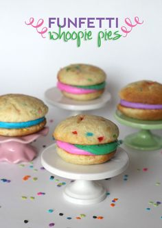 Funfetti Whoopie Pies | Cookies and Cups - I can't see funfetti without thinking of @Kristine Zellman !!