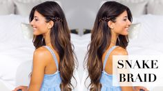 Quick and easy Summer Hair style. Click to learn how to recreate this easy effortless and simple Snake Braid!  #LuxyHairExtensions