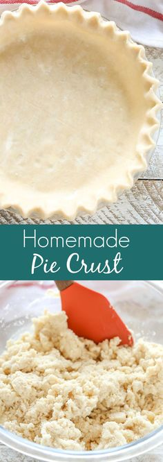 An easy recipe and tutorial for how to make your own homemade pie crust. This is the only pie crust recipe you'll ever need!