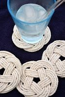 Procraftination!: Knotted Rope Coasters