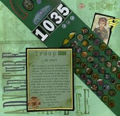 Girl Scouting scrapbook page