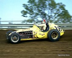 Johnny Rutherford....USAC Balls of brass!!  They never realized you could race with a roof and still be fast...Tough SOB's!