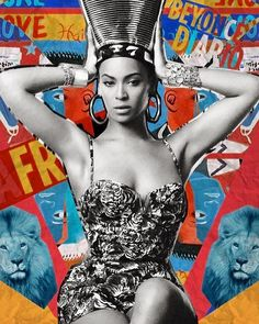 "Happy Birthday Queen! Via ""Grown Woman"" one of our fav @beyonce videos.  #Beyday #art #africa #dontsleep"