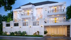 Bobby Private House Design - Pontianak- Quality house design of architectural services, experienced professional Bali Villa Tropical designs from Emporio Architect. Classic House Design, Dream Home Design, Modern House Design, House Outside Design, House Front Design, Bungalow Haus Design, House Plans Mansion, Architectural Services, Luxury Homes Dream Houses
