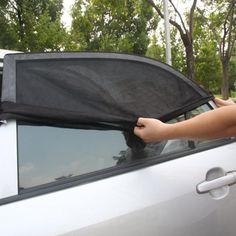 Black Yooha Car Sun Shades 2 Pack Car Window Shades Mesh Blinds Foldable UV Rays//Sunlight Protection Car Sunshades Sun Visor for Kids Baby and Pet