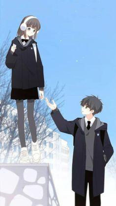 62 ideas cute anime art couples girls for 2019 Anime Chibi, Anime Cupples, Chica Anime Manga, Anime Guys, Cute Cartoon Girl, Anime Girl Cute, Kawaii Anime Girl, Anime Art Girl, Anime Love Story