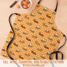 A cute, fall pie pattern with apple, pumpkin, and pecan pies on kitchen aprons and more at my Redbubble store. Perfect for Thanksgiving and Christmas pie bakers! #Pie #Pies #Holidays #HolidayBaking #Baking #PumpkinPie #Apron #ApplePie #PecanPie #Thanksgiving Holiday Pies, Holiday Baking, Happy Turkey Day, Baking Apron, No Bake Pies, Kitchen Aprons, Cool T Shirts, Thanksgiving, Pumpkin