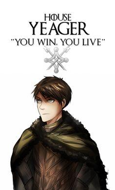 Shingeki no Kyojin x Game of Thrones AU [Eren] by MrsZelkam Sao Anime, Anime Manga, Freaks And Geeks, Aot Memes, Elves Fantasy, Bravest Warriors, Aot Characters, Irish Art, Sun And Stars