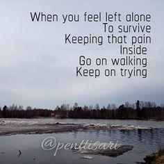 Sari Pentti (@penttisari) • Instagram-kuvat ja -videot Infj, Introvert, Left Alone, Keep Trying, Loneliness, Solitude, Survival, How Are You Feeling, Sari