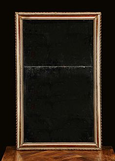 French Antique Louis Philippe Period Mirror circa 1880 with Scalloped Edge