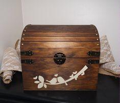 Rustic Wooden Chest Wedding Card Box Wedding by CraftyWitchesDecor
