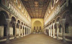 Interior of Sant'Apollinare Nuovo, Ravenna, Italy, dedicated 504.