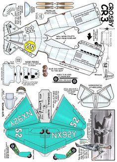 Crosby CR-3 Paper Model Car, Paper Car, Paper Plane, Paper Models, Paper Toys, Papercraft Anime, Paper Aircraft, Wallpaper Crafts, Photo Avion