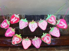 Banner for strawberry shortcake party
