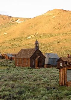old Methodist church in late afternoon, Bodie State Historic Park, CA | Jeff Sullivan