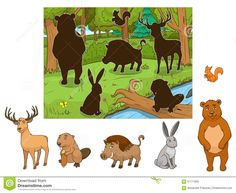 Toddler Learning Activities, Montessori Activities, Infant Activities, Book Activities, Emotions Preschool, Preschool Art, Animals Name With Picture, Forest Cartoon, Quiet Book Templates