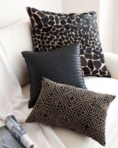 Black & Brown Accent Pillows - Neiman Marcus