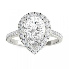 Floating Halo Diamond Engagement Ring The floating halo is letting the diamond appear to float weightlessly. The result is a refined and feminine design that allows greater light flow into the diamond, enhancing its brilliance and gives it a bigger look