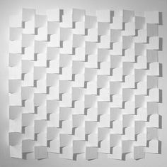 untitled 80 x 80 x 6 cm paper, cardboard, acrylic paint on mdf panel Parametric Design, Concept Diagram, Texture Design, Motion Design, Wall Sculptures, Layout Design, Paper Art, Facade, Architectural Presentation