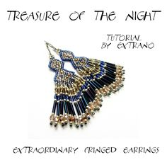 TUTORIAL long fringed earrings TREASURE of the NIGHT by Extrano