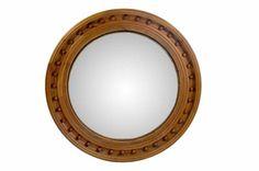 above sofa - mirror option Round Convex Pine Mirror - Mecox Gardens