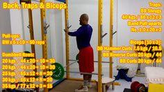 Back Traps Biceps High Volume Training: http://youtu.be/vE4hvU58If4