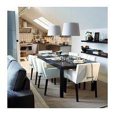 STORNÄS Extendable table, brown-black - IKEA